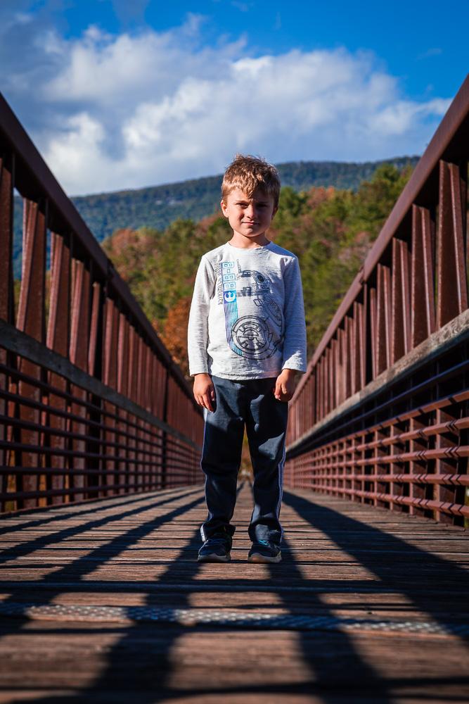 footbridge over the james river
