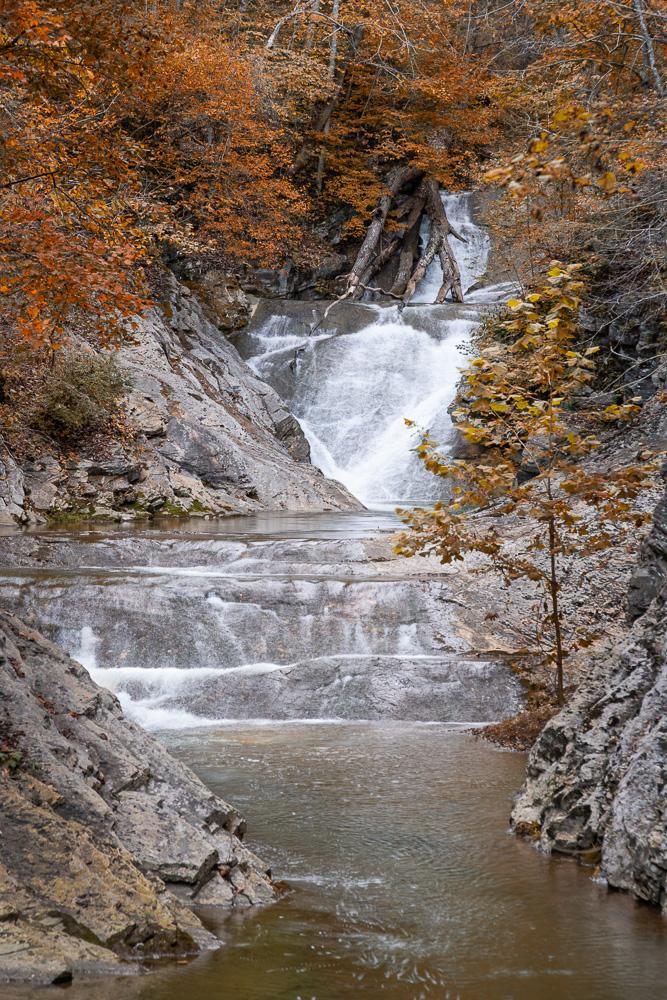 The natural bridge waterfall
