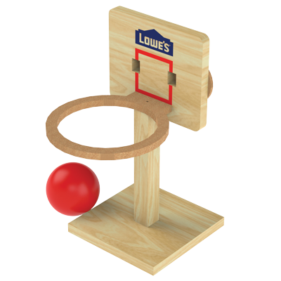 Basketball Project - Lowes Kids DIY