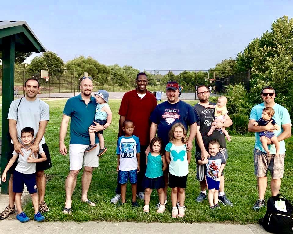 HoCo Dads Group Photo at playground