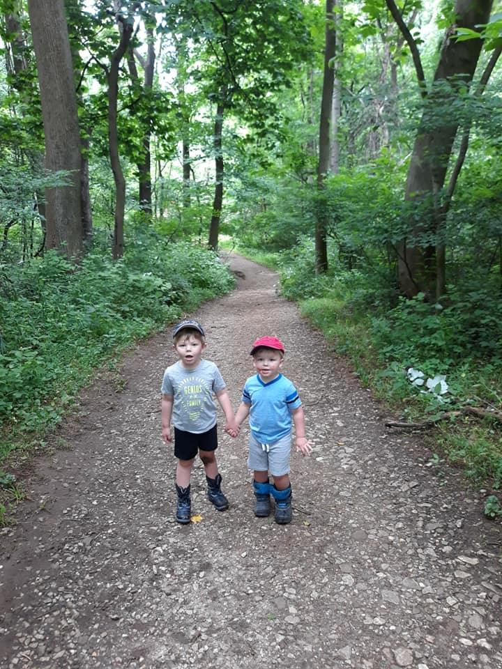 Boys at Wincopin Red Trail