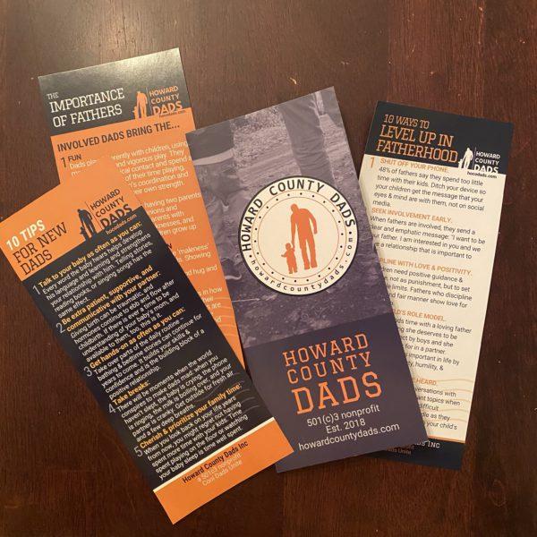 brochures, advice cards for fatherhood advocacy